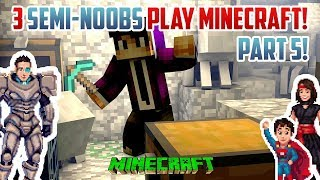 3 Semi-Noobs SEARCH FOR BEDROCK! Minecraft Survival PART 5