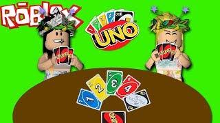 ROBLOX UNO-ISA VS JULIA-WER WIRD GEWINNEN? (UNO IN FAMILIA)