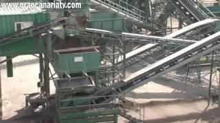 Planta de reciclaje de residuos de construcción y demolición en Tafira