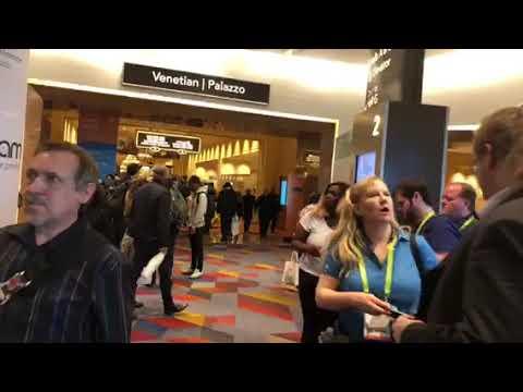 CES 2018 Las Vegas - Walking Through Sands Expo Mezzanine Level #CES2018