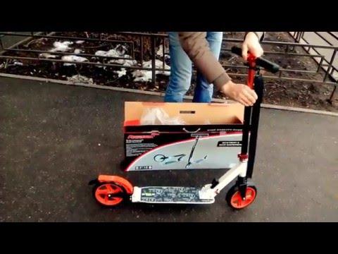 Самокат ARROWX с большими колесами 200мм и 2-мя амортизаторами. WWW.SAMOKATCLUB.RU