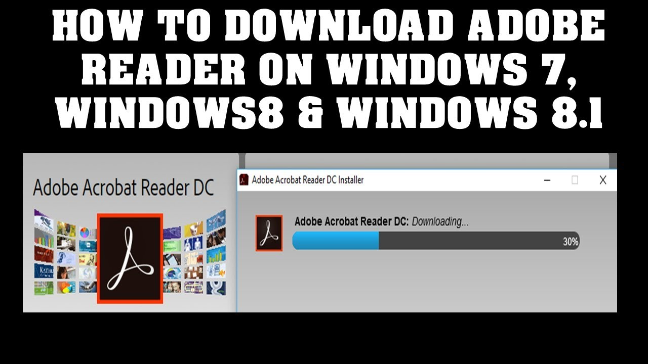 How to Download Adobe reader free for windows