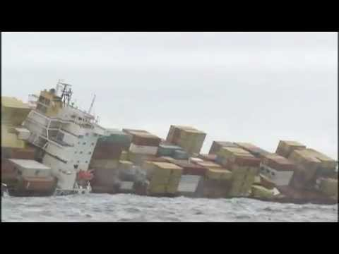 Raw video  Rena Ship disaster  Tauranga New Zealand