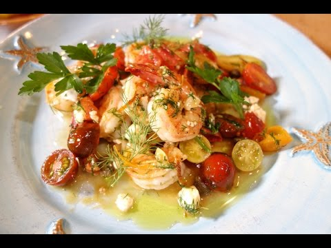 Garlic Shrimp Greek Style in 30 min | Christine Cushing