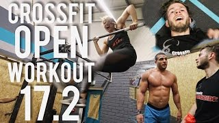 CROSSFIT OPEN WORKOUT 17.2 - HER FIRST BAR MUSCLE UP!
