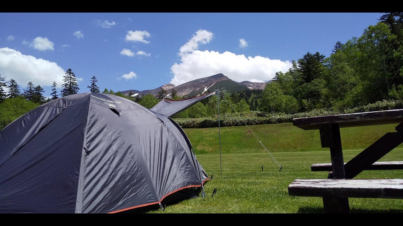 北海道白銀荘前キャンプ場 ソロキャンプ