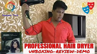 HOW TO STYLE YOUR HAIR WITH HAIR DRYER | HOW TO USE PROFESSIONAL HAIR DRYER- AGARO HAIR DRYER REVIEW