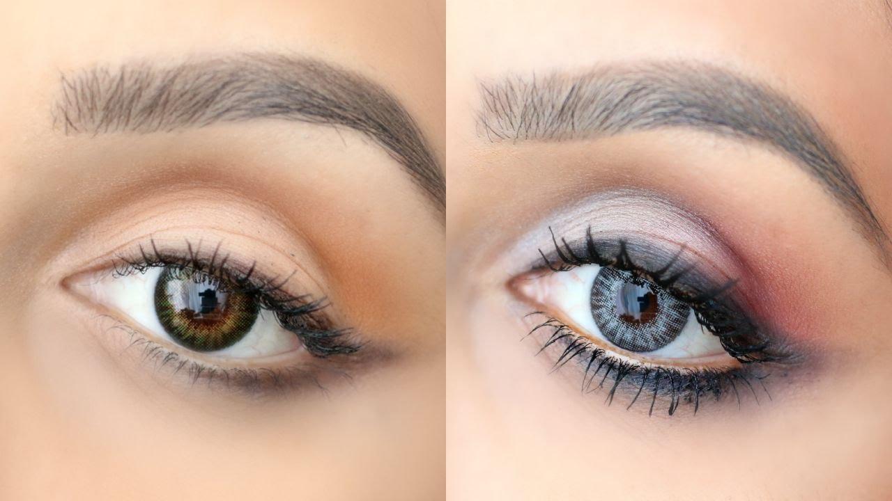 Maquillaje Para Ojos Verdes Y Grises Youtube