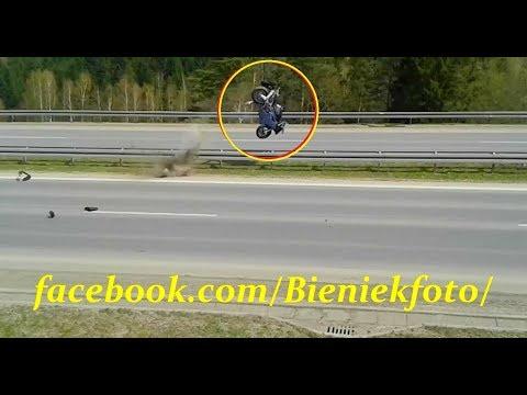 Wypadek motocyklisty Patelnia Chabówka 15.04.2018r.