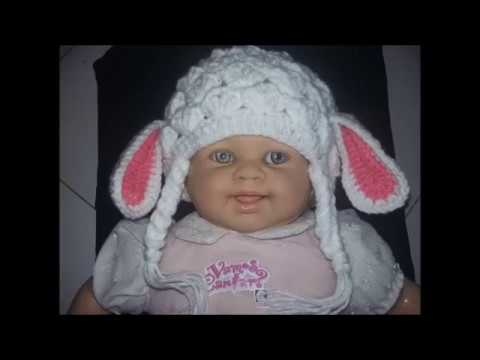 d8d70c7934bee Gorro infantil (touca) ovelhinha crochê - YouTube