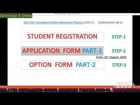 How to fill Application form Part-1 (Marathi) 31.07.2020