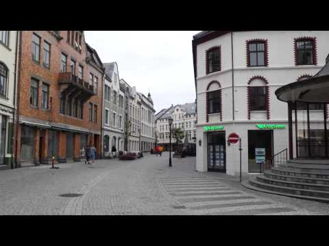 Alesund, Norway, Walking Around in the Evening after Cruise