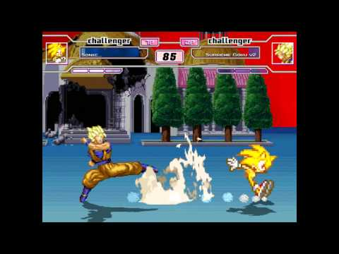 Mugen: Super Sonic Vs. Super Saiyan Goku