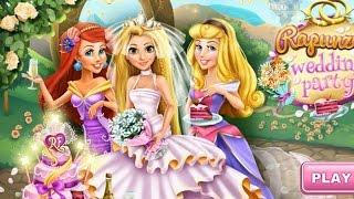 NEW Игры для детей—Disney Аврора, Ариэль, Рапунцель свадьба—Мультик Онлайн Видео игры для девочек