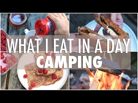WHAT I EAT IN A DAY While Camping | EASY & Healthy Meals