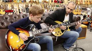 Toby Lee with Mark Agnesi playing a 1963 Gibson ES-335TD & 1956 Gibson Les Paul TV Special