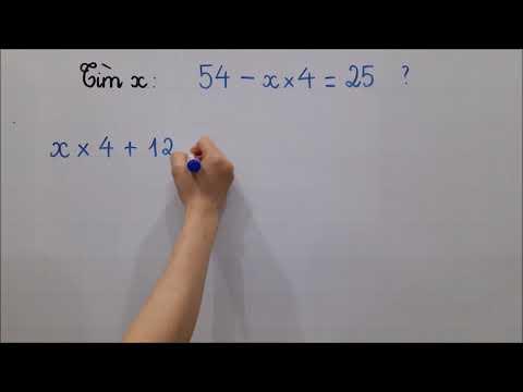 Toán lớp 2 - Tìm X nâng cao : 63 - 5 x X = 28 (Tuần 25 số 8). Đk học cô Lan 0968 035 669