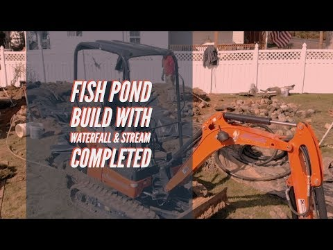 How To Build A Fish Pond And Stream / Waterfall - COMPLETED Pond Renovation - Atlantis Water Gardens