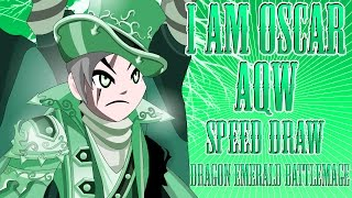 =AQW= - Speed Draw - Dragon Emerald BattleMage - I AM OSCAR -