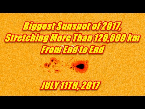 LARGE SUNSPOT NOW EARTH FACING - FULL REPORT - JULY 11TH 2017