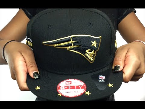 Patriots  NFL STAR-TRIM SNAPBACK  Black Hat by New Era - YouTube d824e101f6f