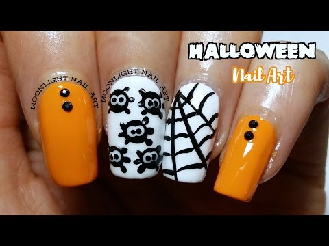 Halloween Nail Art Easy -  Spider & Spiderweb Tutorial