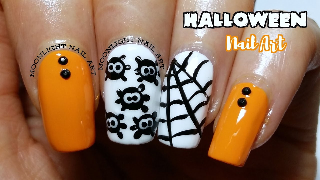 Halloween nail art easy spider spiderweb tutorial youtube halloween nail art easy spider spiderweb tutorial prinsesfo Images