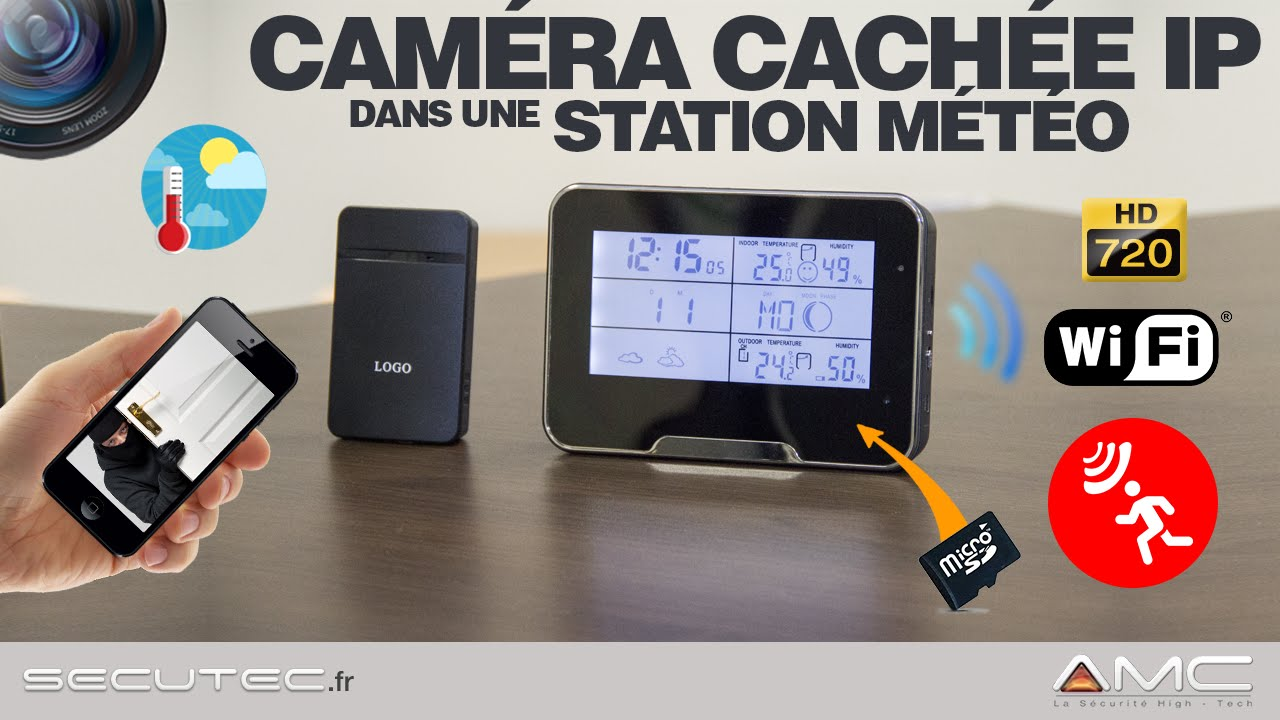 station m t o cam ra cachee ip wifi hd 720p p2p secutec fr youtube. Black Bedroom Furniture Sets. Home Design Ideas