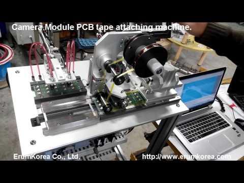 카메라모듈pcb테잎부착기 Youtube