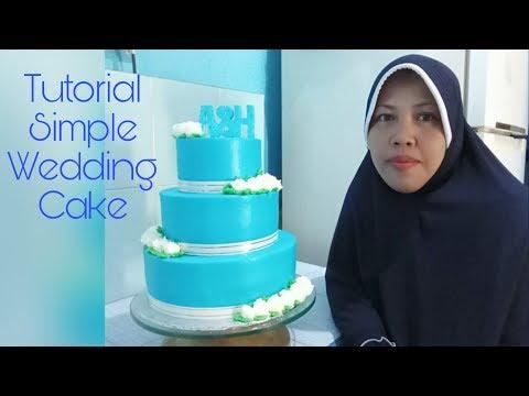 Kue Pengantin Sederhana Tiga Tingkat Dengan Buttercream