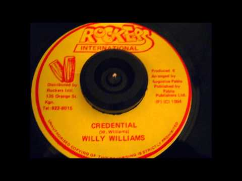 CREDENTIAL - WILLY WILLIAMS