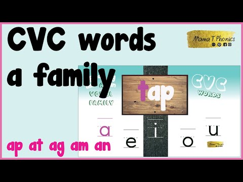 CVC Words | A Family | Learn All The CVC Words One Vowel At A Time | Short Vowel A