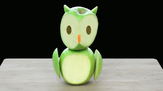 Apple Owl Cutting Garnish -