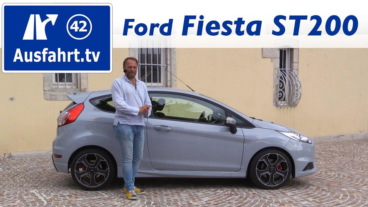 2016 ford fiesta st200 fahrbericht der probefahrt test review ausfahrt tv