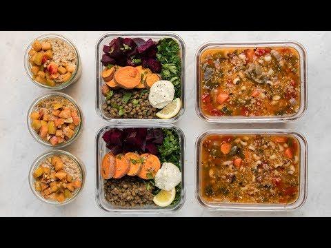 Fall-Inspired Vegan Meal Prep for the School or Work Week