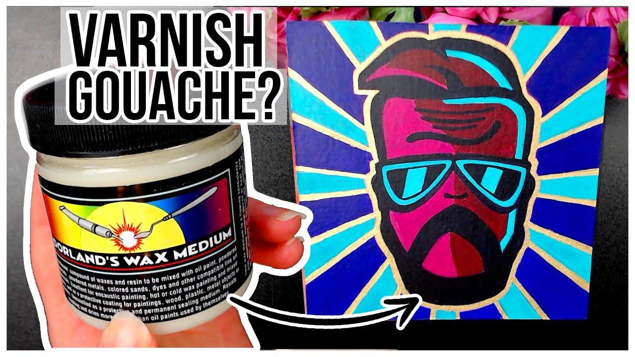 Attempting to Varnish Gouache/Watercolour? ???? Mini Birthday Gift Time-Lapse
