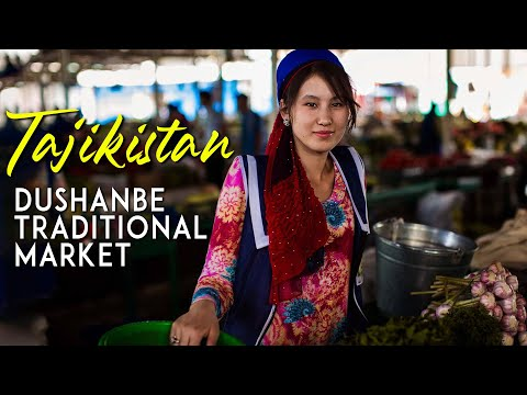 Modern Traditional Market in Dushanbe || My Last Day in Tajikistan
