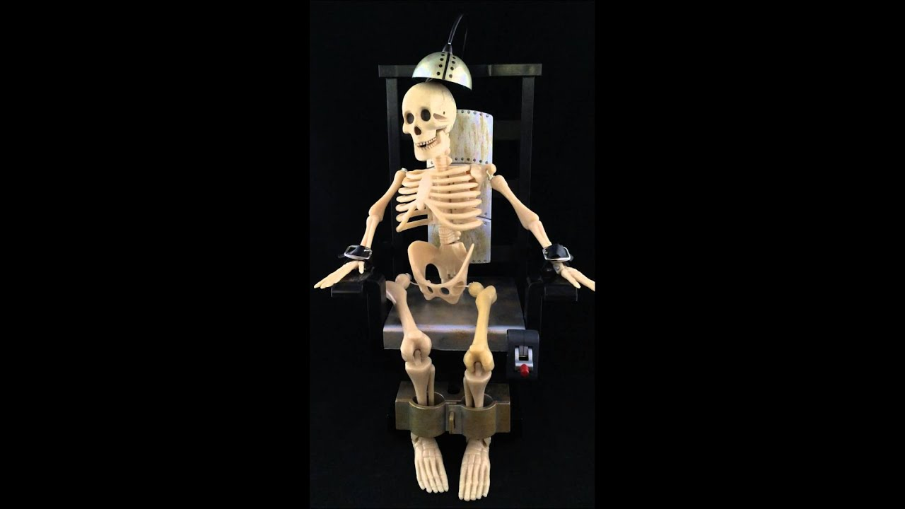 Sinny's Stuff Joltin Jack Electric Chair Skeleton Animated Gemmy Halloween Prop