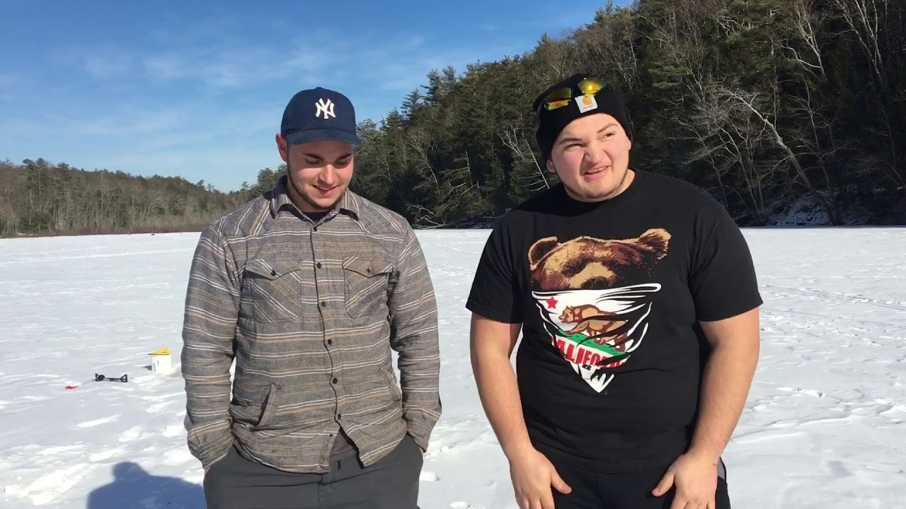 Ice FIshing at Onteora Lake in the town of Kingston, NY