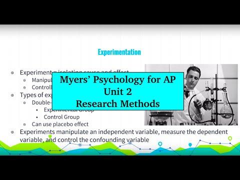 Unit 2 Myers' Psychology for AP