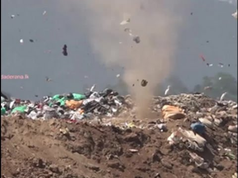Caught on Camera: Whirlwind at garbage dump in Gohagoda