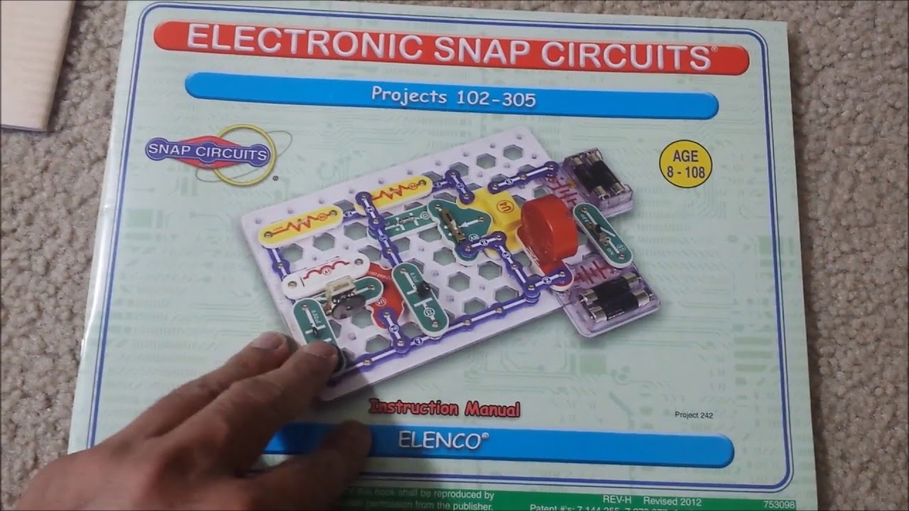 snap circuits sc 300 electronics discovery kit review rh youtube com