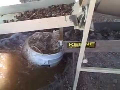 GOLD MINING TROMMEL / Test run