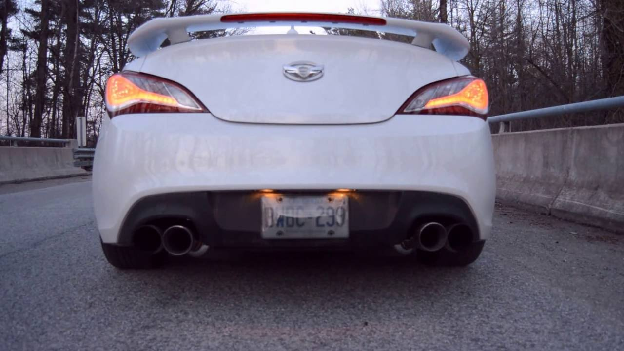 2014 genesis coupe 2 0t cnt v3 exhaust isis o2 housing downpipe