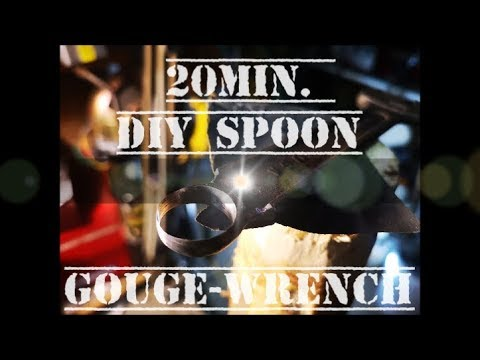 20 Min. DIY Spoon Gouge from An Old Wrench