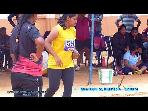 GIRL'S  U18  SHOT PUT FINAL. 31st TAMILNADU  STATE  JUNIOR  ATHLETICS  CHAMPIONSHIPS-2017. .