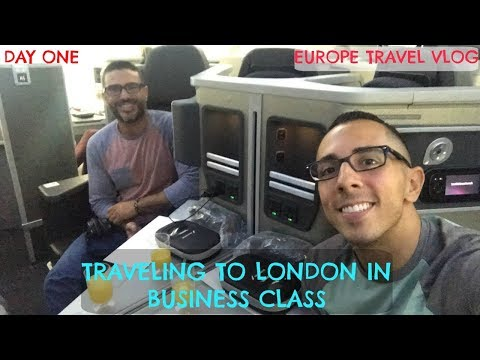 TRAVELING TO LONDON IN BUSINESS CLASS | EUROPE TRAVEL VLOG | DAY ONE