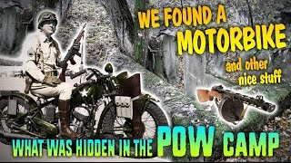 World War II Motorcycle Discovered In The Forest. It