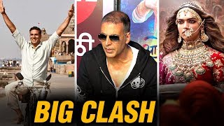 Akshay Kumar REACTS To Padman VS Padmavati Clash