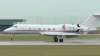 Gulfstream GIV-X (G450) Arrival at the Vancouver International Airport